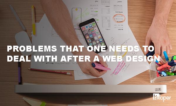 Problems after a web design