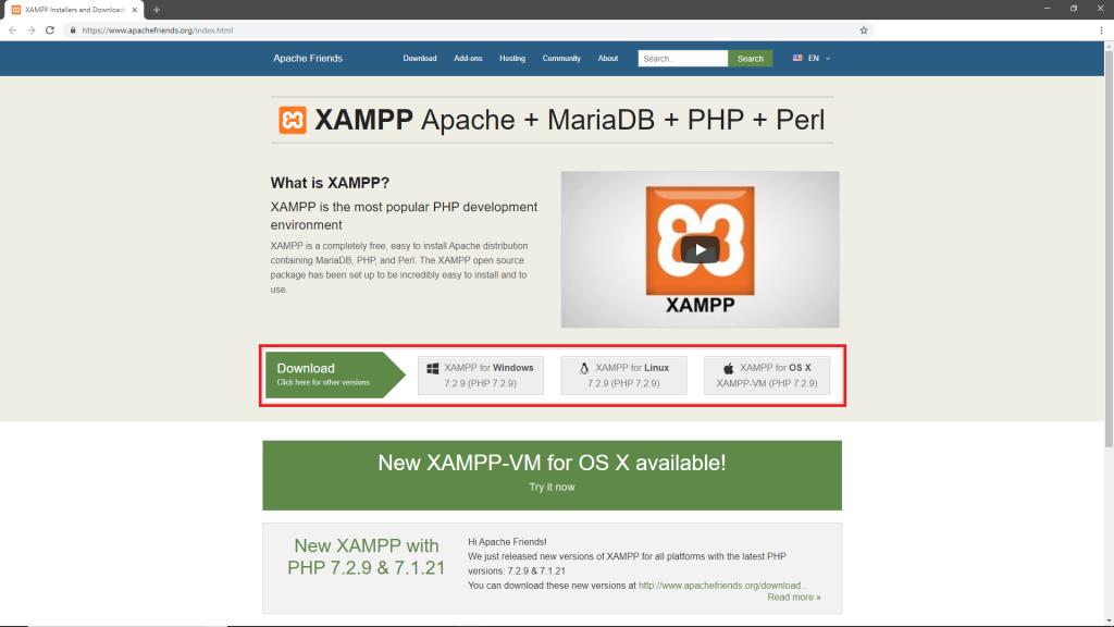 Xampp Add Ons