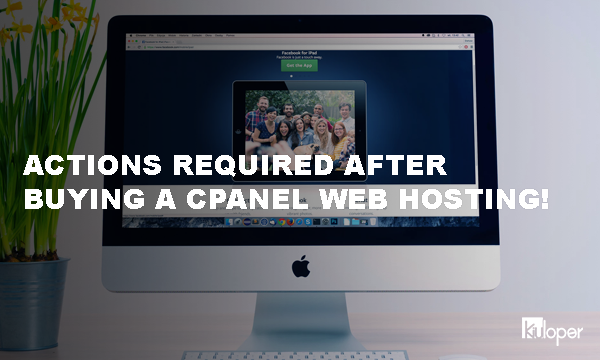 Actions required after buying a cPanel host