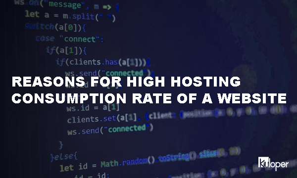 High hosting consumption rate!