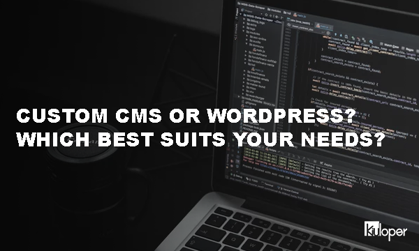 Custom CMS or WordPress?