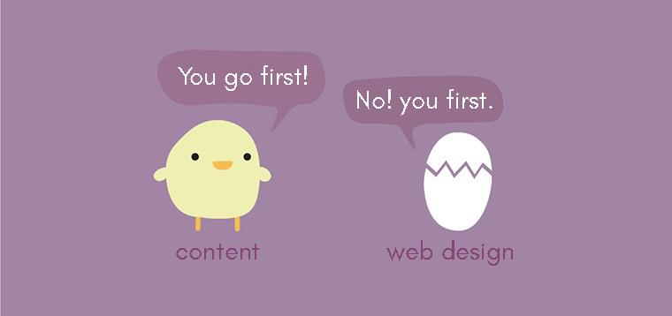content or web design